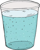 Cup of Carbonated Water Stock Photos