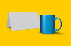 Cup and card Royalty Free Stock Image