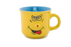 Cup-caricature with the cheerful person. Stock Images
