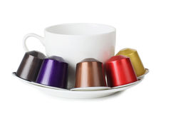 Cup and cartridge Royalty Free Stock Photo