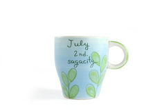 A cup ceramic special for people (birthday) July. A decorative cup ceramic special for people July Stock Photo