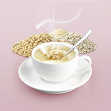 Cup of cereal on color background Stock Images
