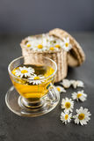 Cup of chamomile tea Stock Image