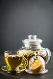 Cup of chamomile tea Royalty Free Stock Image