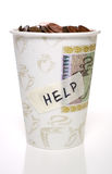 Cup of change Stock Images