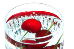 Cup of cherries Stock Photo