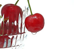 Cup of Cherries Stock Photography