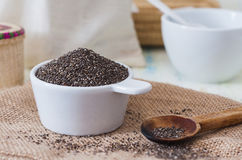 Cup of chia Royalty Free Stock Photography