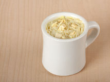 Cup of Chicken Noodle Soup Royalty Free Stock Images