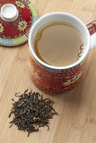 Cup of chinese green tea Stock Image