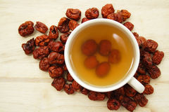Cup of chinese red date tea stock photography