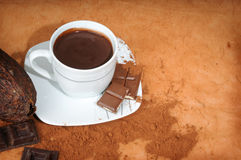 Cup with chocolate Stock Image