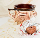 Cup with chocolate Royalty Free Stock Photos