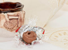 Cup with chocolate Stock Photos