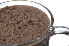 Cup of chocolate drink Stock Photos
