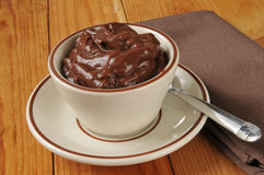 Cup of chocolate pudding Royalty Free Stock Images