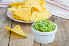 Cup with chunky guacamole Royalty Free Stock Photography