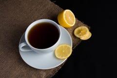 cup citrontea Fotografering för Bildbyråer
