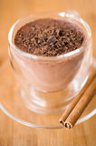 Cup of cocoa with chocolate crumbs Royalty Free Stock Photos