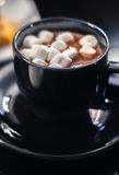 Cup of cocoa with marshmallow Royalty Free Stock Images