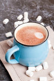 Cup of cocoa with marshmallows, closeup Royalty Free Stock Image