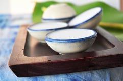Cup of Coconut Milk Thai Dessert Royalty Free Stock Image