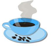 Cup of cofee. Thisi is an illustration with a cup of cofee Stock Photography