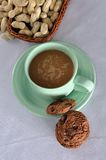 A Cup of Cofee with cookies stock photography