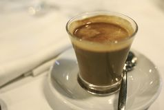 Cup of cofee with milk.  Stock Photo