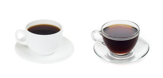Cup cofee with tea Stock Image