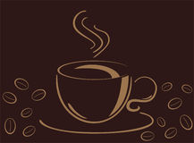 Cup of cofee, vecor illustration Royalty Free Stock Image