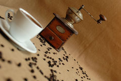 Cup of coffe. Before coffe gringer Royalty Free Stock Images