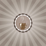 Cup of coffe. Brown cup of hot coffe Stock Photography