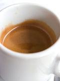 A cup of coffe. A expresso coffe cup with cream Stock Photo