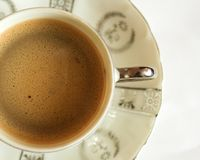 Cup of coffe. Cip of coffe isolated royalty free stock photography
