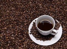 Cup with coffe Royalty Free Stock Images