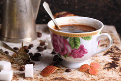 Cup of coffe on breakfast Royalty Free Stock Image