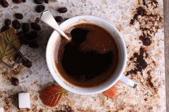 Cup of coffe on breakfast Royalty Free Stock Photography