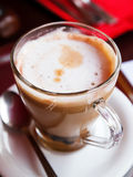 A cup of coffe close-up Stock Photography
