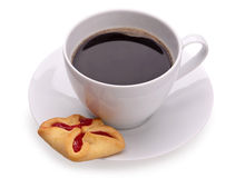 Cup of coffe and cookies Royalty Free Stock Photography