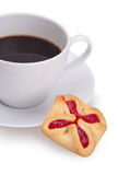 Cup of coffe and cookies royalty free stock image