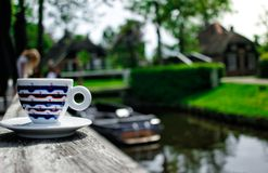A cup of coffe in Giethoorn Stock Photos