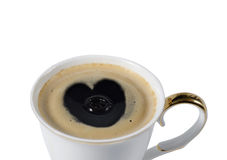Cup of coffe with a heart Royalty Free Stock Image