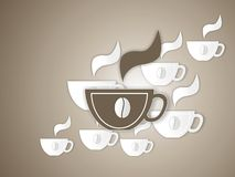 Cup of coffe illustration Stock Photography