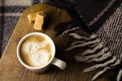 Cup of coffe with the sweets Stock Photography
