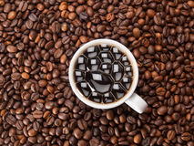 A cup of coffe Stock Photos