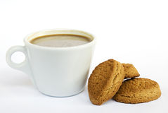 Cup of coffe. On white background stock photos