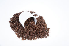 Cup with coffee Stock Images