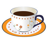 A cup of coffee. A cup of hot coffee  illustration Stock Photography