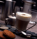 Cup of coffee. And cookies Royalty Free Stock Photo